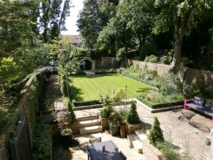 Arial view of this Barnes garden design