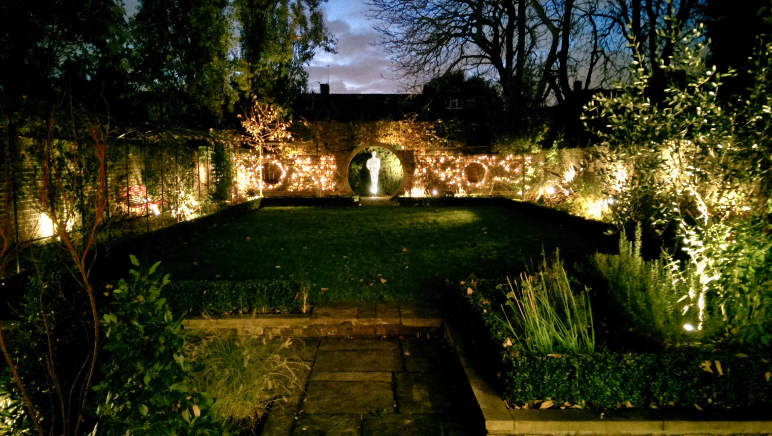 Garden lighting Barnes garden design