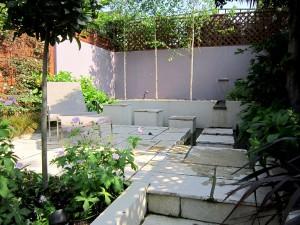 Sun bathing area