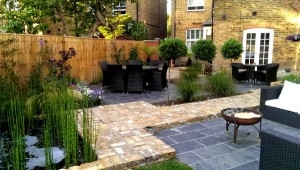 Garden seating areas